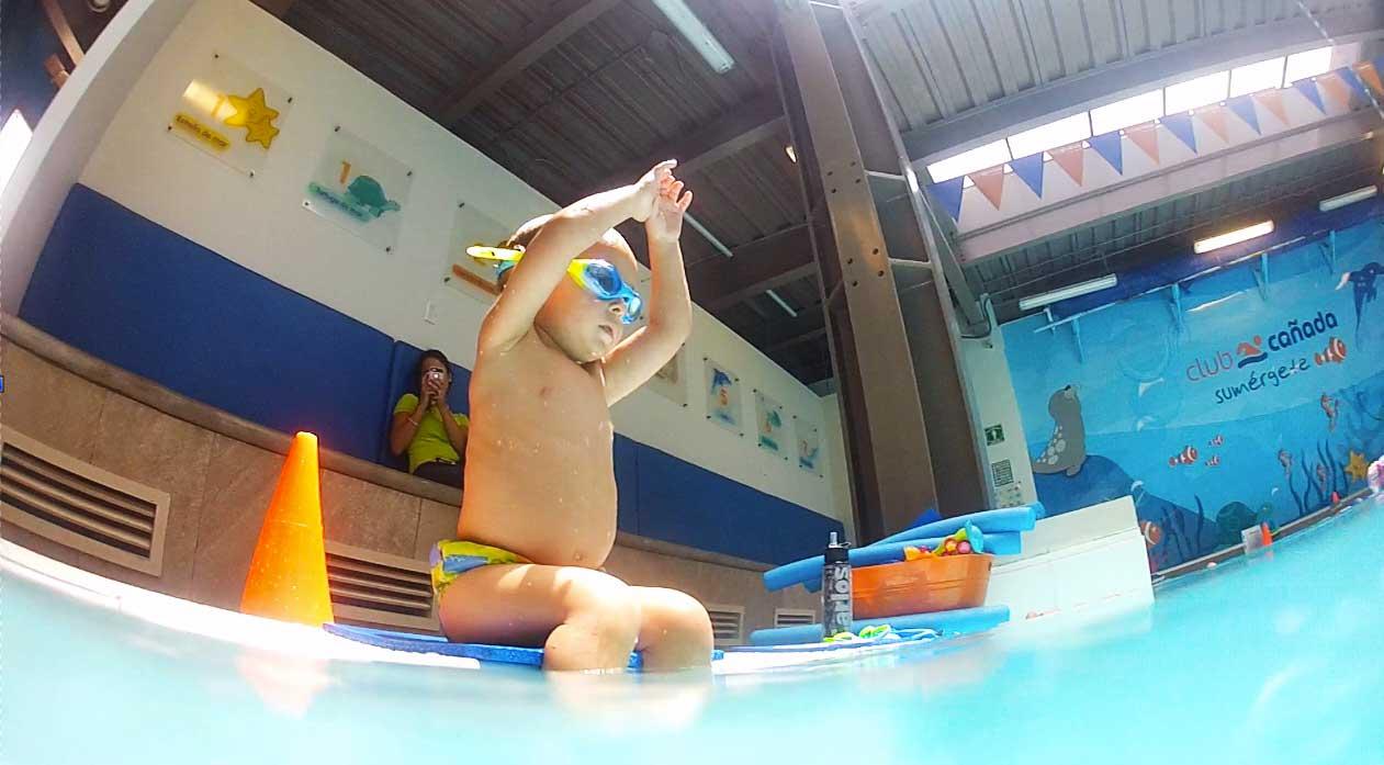 Entrada segura en la natación