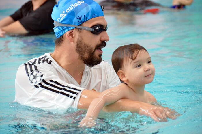 natación para bebés club cañada